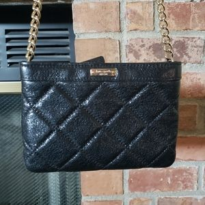 Kate Spade Black Quilted Gold Chain Crossbody